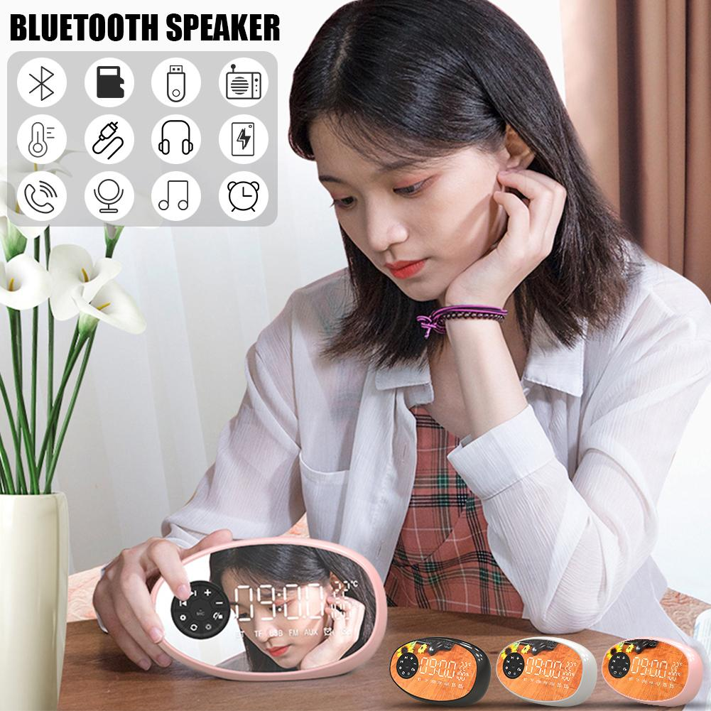 Image 2 - New Multifunctional Bluetooth Speaker Temperature Measurement Radio Electronic Alarm Clock Wireless Subwoofer Small Audio Device-in Portable Speakers from Consumer Electronics