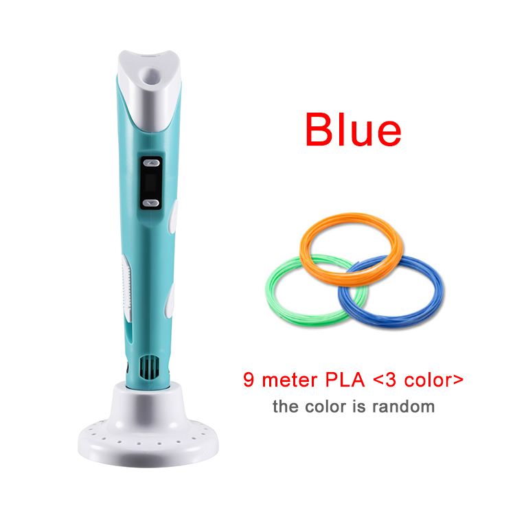 KYY 3D Pen Original DIY 3D Printing Pen With 100M ABS/PLA Filament Creative Toy Gift For Kids Design Drawing(China)
