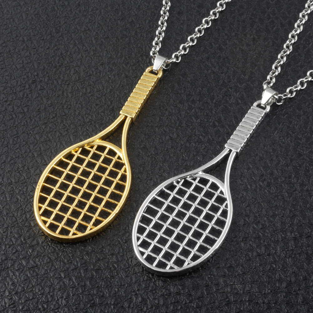 2018 Fashion Jewelry Fitness&Bodybuildin Badminton racket Necklaces High Quality Badminton women and Men Necklace