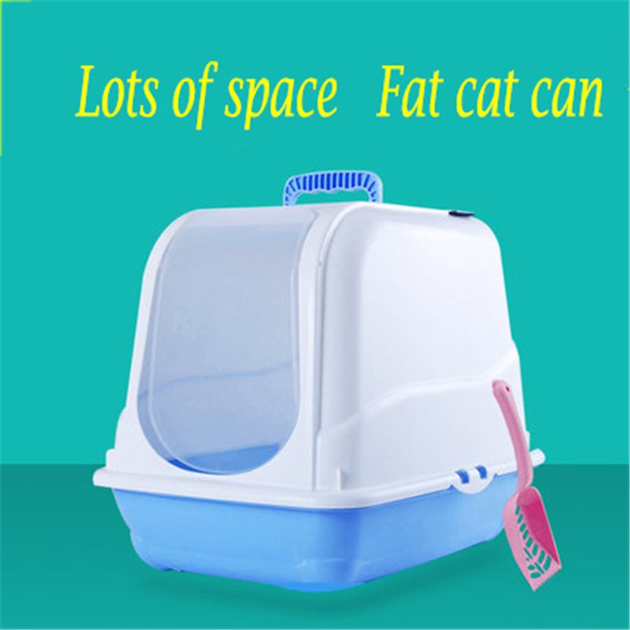 Bedpan Plastic Closed Cat Litter Box Indoor Crofe Puppy Toilet Training Sand Animal Toilet For Cats Dogs Tray Supplies DDM2331