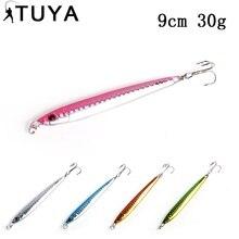 TUYA Stickbait Pencil Fishing Lures Sinking Lead Metal Jig Squid Lipless Stick Artificial Baits Full Swimming Layer 30g 9cm