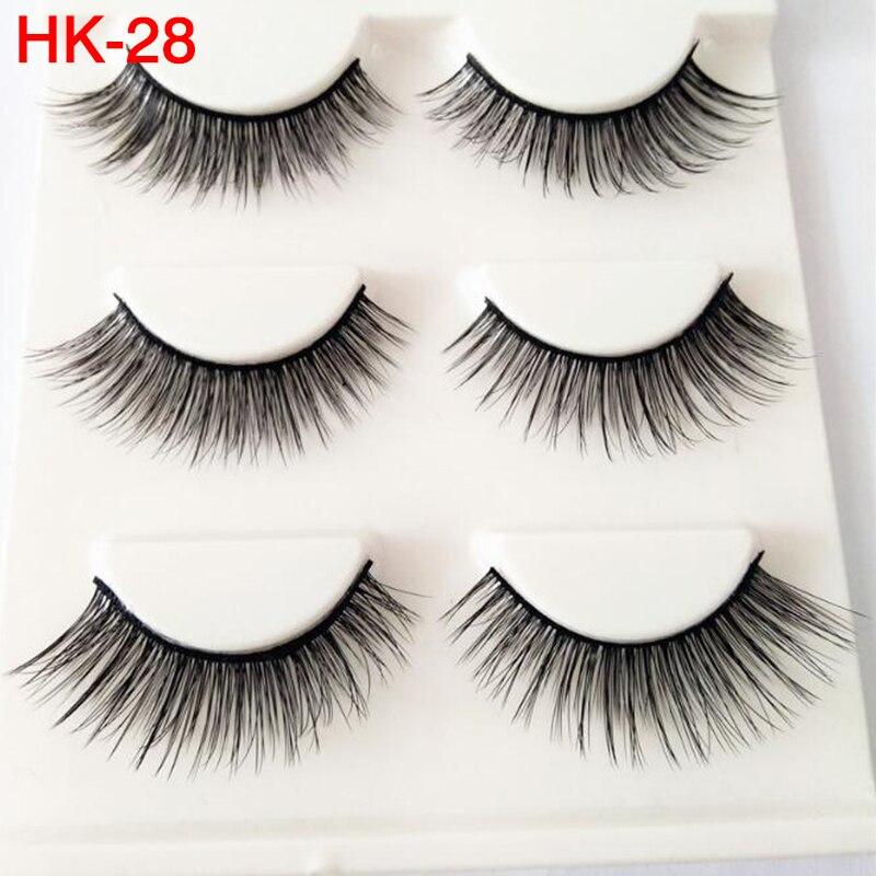 3 pairs/Lot 3D Messy Natural False Eyelashes Volume Handmade Wholesale Eyelashes Black Long Soft Eyelash Extension Makeup Tools