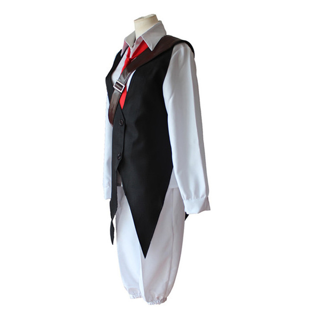 Anime The Seven Deadly Sins Cosplay Meliodas Dragon's Sin of Wrath Cosplay Full Set (Shirt + Vest + Pants + Tie)