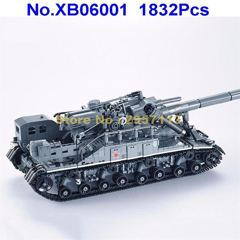 XB06001 1832Pcs Creative MOC Military Series T92 Tank Building Block Brick Toy