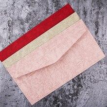 40 pz/set Creativo Europeo Vintage Busta Rossa busta Rosa per la Cerimonia Nuziale Inviti di Compleanno Decorazione Carta Carte di Benedizione Regalo