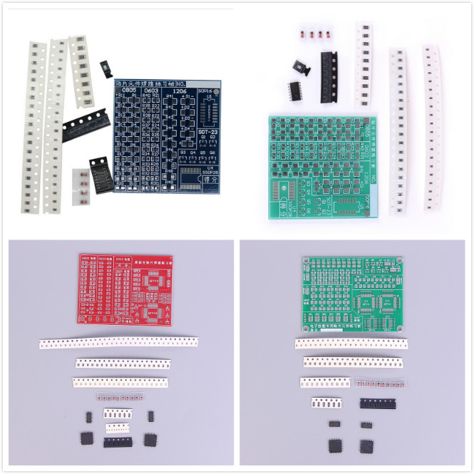 SMD SMT Components Welding Practice Board Soldering Skill Training Beginner DIY Kit Electronic Kit For Self-Assembly
