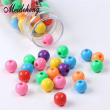 Acrylic Solid Color 10mm Beads For Jewelry Making DIY Handmade Earrings Design Collocation Children Educational Bracelet