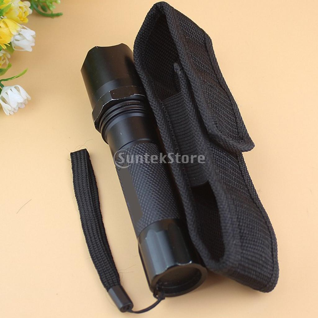 Durable Nylon Portable Outdoor Travel Hiking Holster Holder Waist Belt Clip Pouch Case Carry Bag for LED Flashlight Torch