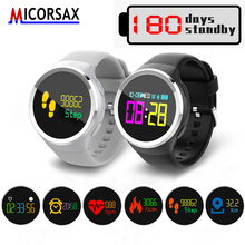 MICPRSAX Smart Watches Bracelet 0.95″ OLED Heart Rate Blood Oxygen Pressure Smart Wristband Activity Tracker Band with Stopwatch