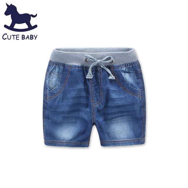 2016 Summer Style Fashion New Children's Clothing Boy Washed Denim Shorts Casual Boys Kids children's jeans shorts for boy 2-12Y