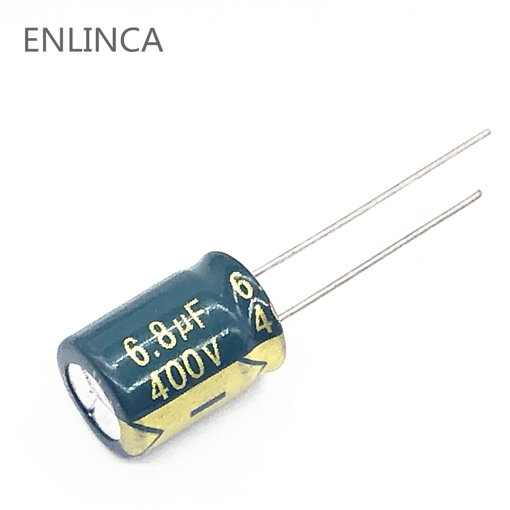 30pcs/lot 6.8UF High Frequency Low Impedance 400V 6.8UF Aluminum Electrolytic Capacitor Size 10*13mm S32 20%