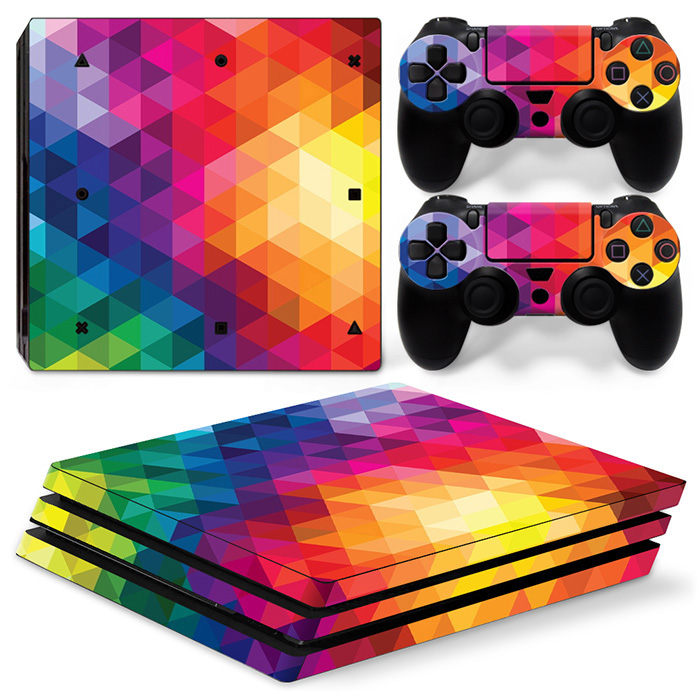 Colorfull Leather Skin For PS4 PRO Console Vinyl