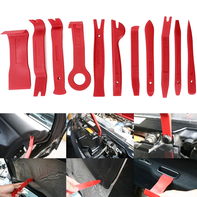 11+3 pcs Car Trim Removal Tools Kit Auto Audio Dash Door Window Clip Panel Upholstery Remover Installer Repair Pry