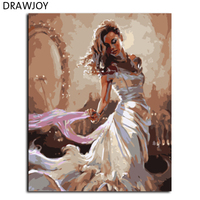 New Frameless Pictures Painting By Numbers Hand Painted Oil On Canvas Wall Art For Living Room