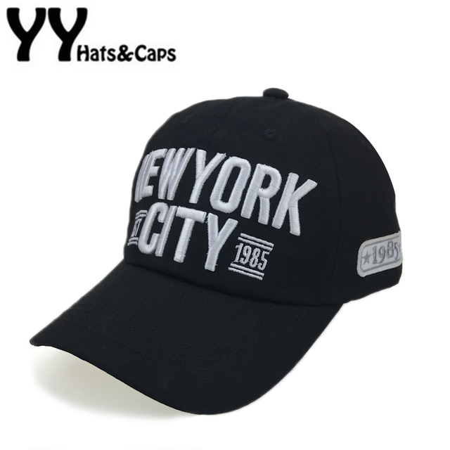 7813eaa97e481 Embroidery New York City Baseball Cap Men Cotton Dad Hats Women Snapback Hat  Curved Ball Cap USA Distressed Vintage CAPS YY17184