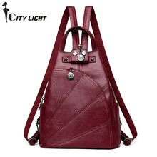 27c652a4d7 Vintage Backpack Women Bags New Fashion Travel Bag PU Leather School  backpacks Casual Large Capacity Shoulder