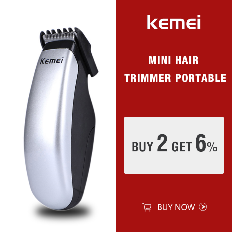 Kemei KM-666 Battery Hair Trimmer Mini Electric Hair Clipper Cutting Machine Male Beard Barber Razor For Men Style Tools