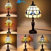 tiffany Turkish Mosaic Lamps E27 Base Handmade Glass Lampsahde Bedroom Bedside Vintage Table Lamp Light Fixtures
