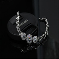 2 Colors Simple High Quality Geometric Cubic Zircon Bracelet Fit Woman Couple Bracelet New Year Gifts