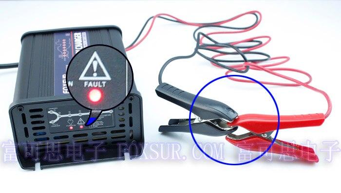 FOXSUR 12 V 10A 7-étape intelligentes Plomb Chargeur De Batterie, batterie de voiture chargeur, MCU controll, pulse charge Responsable et Desulfator - 3