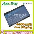 Apexway 4400 mah 11.1 v bateria do portátil para acer aspire 3100 5100 5110 5610 5650 3103 3104 3690 batbl50l6 6 células
