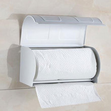 Настенный алюминиевый держатель для туалетной бумаги в рулонах, чехол с крышкой 803916
