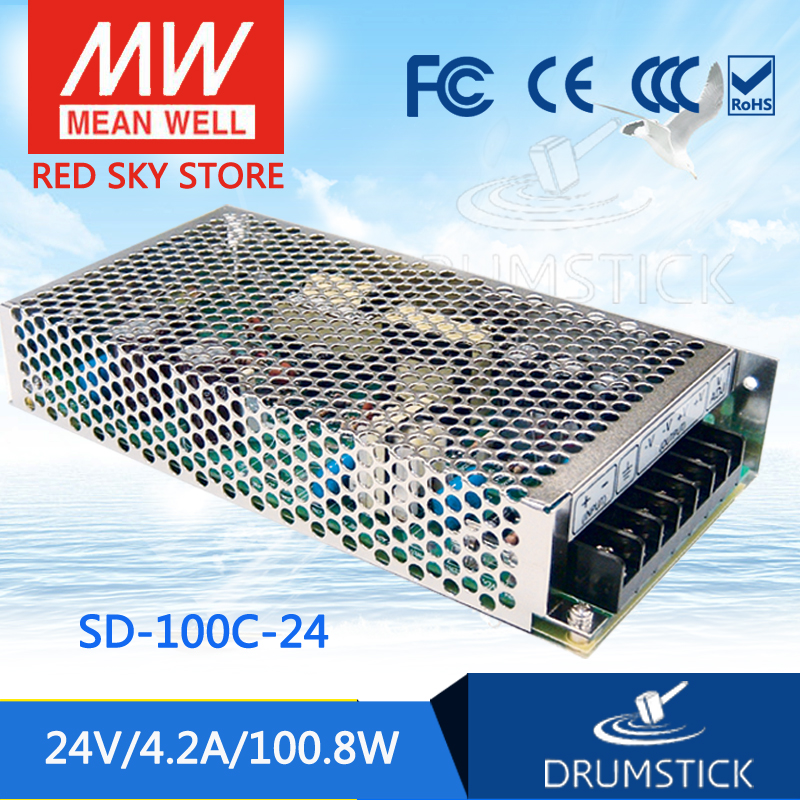 цена на Genuine MEAN WELL SD-100C-24 24V 4.2A meanwell SD-100 24V 100.8W Single Output DC-DC Converter