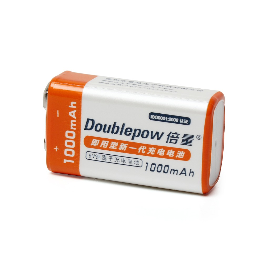 Ambitious 1pc Doublepow 9v 1000mah Li-ion Rechargeable Battery 9 Volt Lsd Lithium Recargable Bateria With 1200 Cycle Rechargeable Battery Reasonable Price