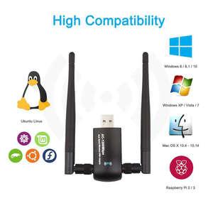 Image 5 - USB Không Dây Wifi, 1200Mbps Băng Tần Kép 2.4 GHz/300 Mbps 5 GHz/867 Mbps Dual 5Dbi Ăng Ten Mạng Wifi USB 3.0 Dành Cho Máy Tính Để Bàn