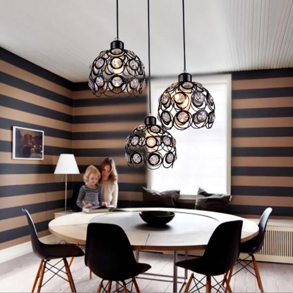 Dining Room Modern Crystal Chandeliers: Led Modern Minimalist Restaurant Chandelier Crystal
