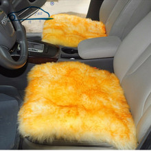 где купить 2015 New Car Wool Cushion Winter Car Seat Cover Plush Seat Pad Wool Mat Used in Home and Office Free Shipping дешево