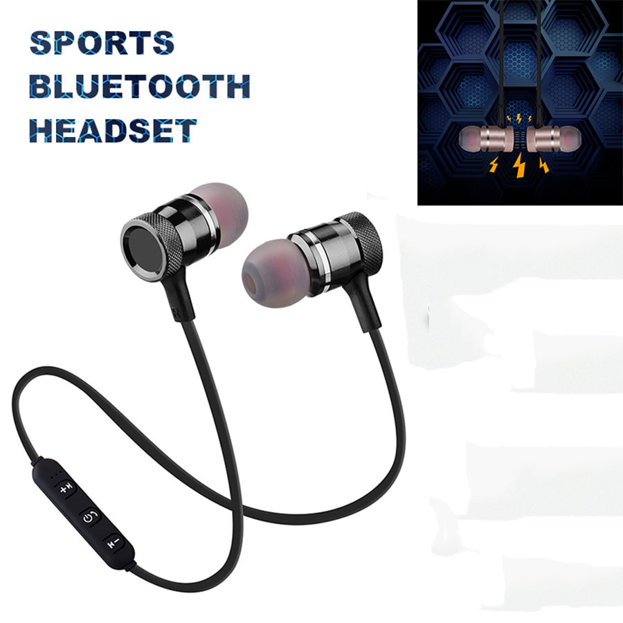 Metal Sports Bluetooth Headphone SweatProof Earphone With Microphone For iphone Samsung