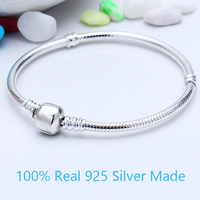 Luxury Top Quality 100 925 Sterling Silver Iconic Silver Charm Bracelet Classic Snakechain For Women Fit