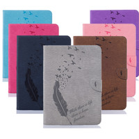 PU Leather Retro Tablet Case Folding Flip Wallet Stand Cover Case For Samsung Galaxy Tab E