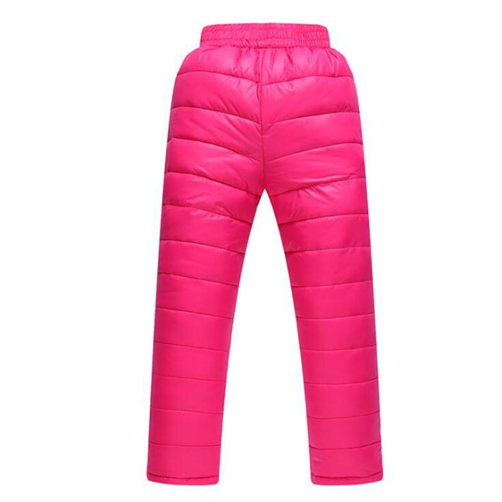 Winter Down Pants Boys Girls Solid Parka Warm Trousers Casual Elastic High Waisted Kid Pant Long Thick Children Pants Clothing casual mid waisted colorful loose exumas pants for women