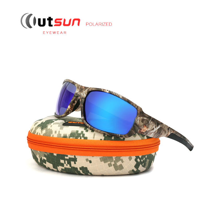 3bdb1dd1171 OUTSUN 2017 Polarized Sunglasses Men Women Sport fishing Driving Sun  glasses Brand Designer Camouflage Frame De