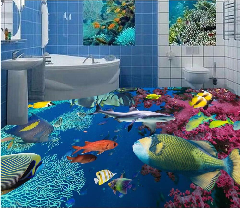 Compare Prices On Ocean Floor D Wall Wallpaper Online Shopping - Ocean floor painting
