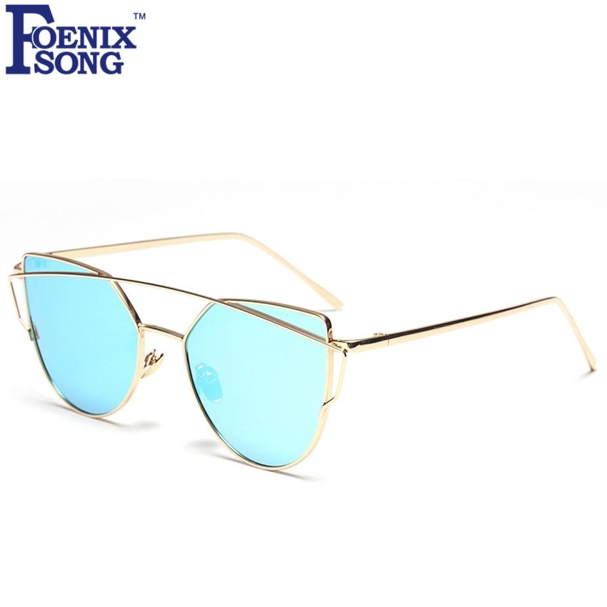ea427bb229 Foenixsong moda nueva ojo de gato Sol Gafas vintage marca hombres Gafas de  sol oculos femeninos mujeres cateye Sol vidrio gafas sk5502-4