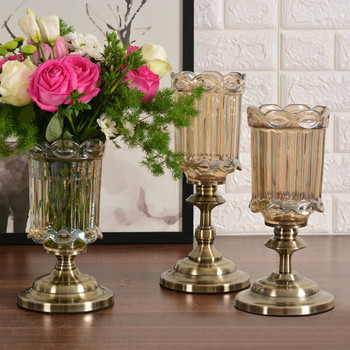 Creative Fashion European Style High Quality Tabletop Vase Decoration Home Dining Table Decoration Glass Vases Home Decorations