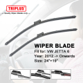 "Wiper Blade para VW JETTA MK6 (2012-Onwards) 1 conjunto de 24 ""+ 19"""