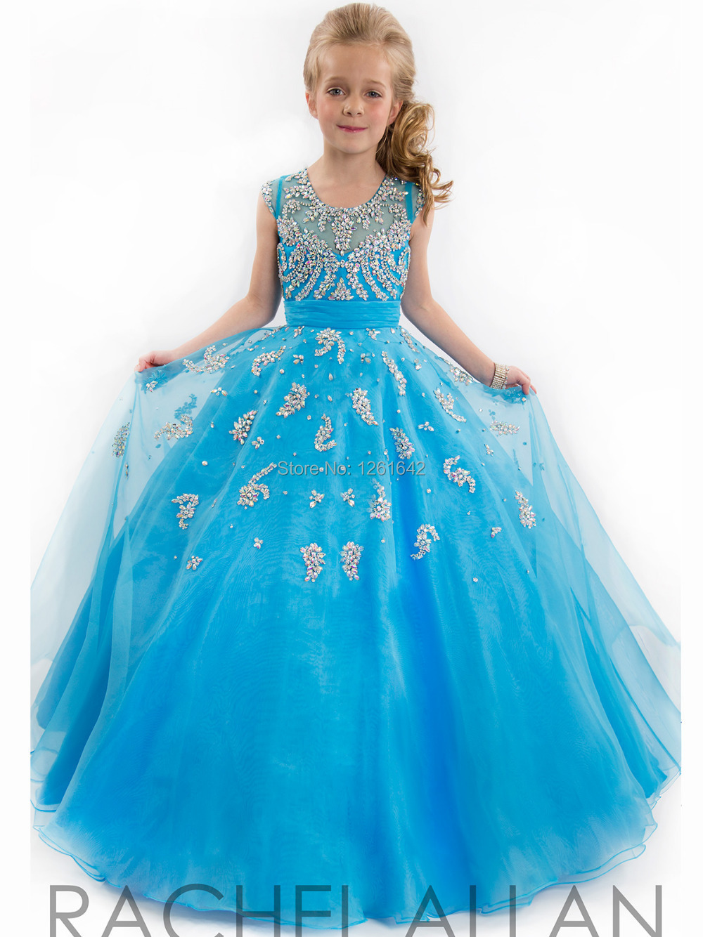 2014 Little kids Girls Pageant Dresses colorful party dress Ball ...