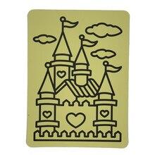 1000 шт А5 желтые наклейки карты для песочного искусства Детские вечерние игрушки