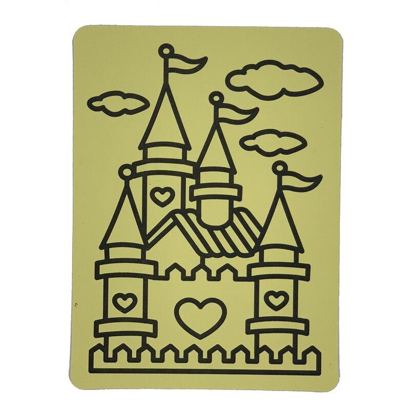 frete gratis 1000 pcs a5 amarelo cartoes de etiqueta para a arte de areia brinquedo do