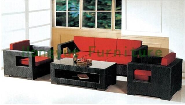 Wicker home sofa set furniture Living room rattan sofa set