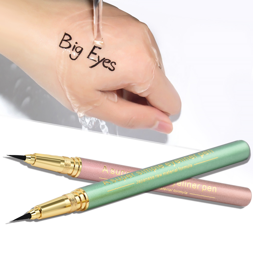 Фото 1 Pc NEW Metal plastic Black Long-lasting Waterproof Eyeliner Liquid Eye Liner Pen Pencil Makeup Cosmetic Beauty Tool Wholesale