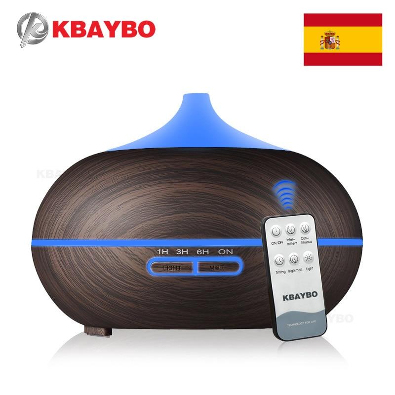 Controle remoto 300 ml Grão de Madeira Óleo Essencial Ultrasonic Aroma Difusor Névoa Fria Umidificador para o Office Quarto Quarto Do Bebê