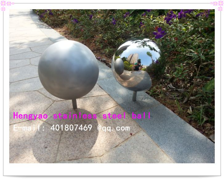 400 mm in diameter gray Stainless steel ball/photography/photo/decorative ball,hollow ball, polishing mirror,mirror ball