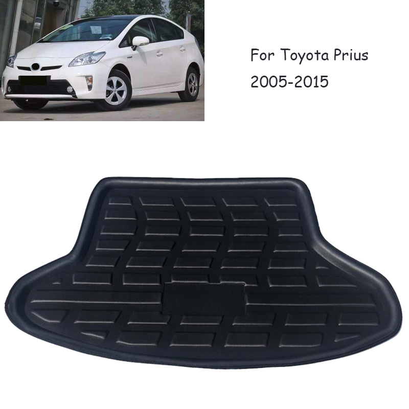 1Set Car Cargo Rear Trunk Mat For Toyota Vios Sedan 2014 2015 2016 2017 Boot Liner Tray Anti slip mat Accessories