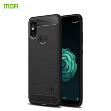 MOFi For Xiaomi Mi Mix2S Case Silicone Carbon Fiber Heavy ShockProof Full Protector Fitted Soft TPU Back Cover