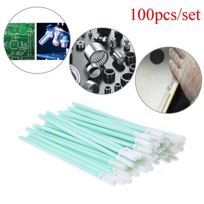 Swabs Flexible Head Sponge Foam Cleaning Swab Sticks Clean UV Ink On Digital Printer 100/Pack